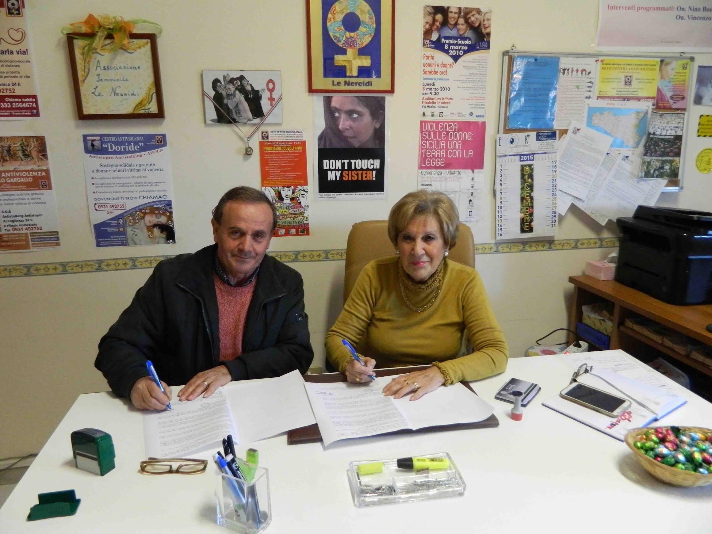 Siracusa, firmato protocollo d'intesa tra Mdc e Rete centri antiviolenza
