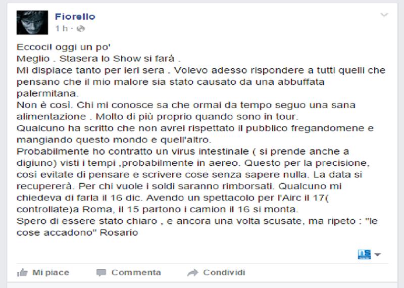 The show must go on! Fiorello torna stasera sul palco del teatro Politeama Garibaldi di Palermo