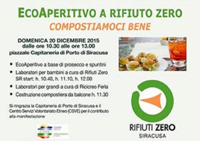 """""""Ecoaperitivo a rifiuto zero"""": un'iniziativa per tenere pulita la città"""