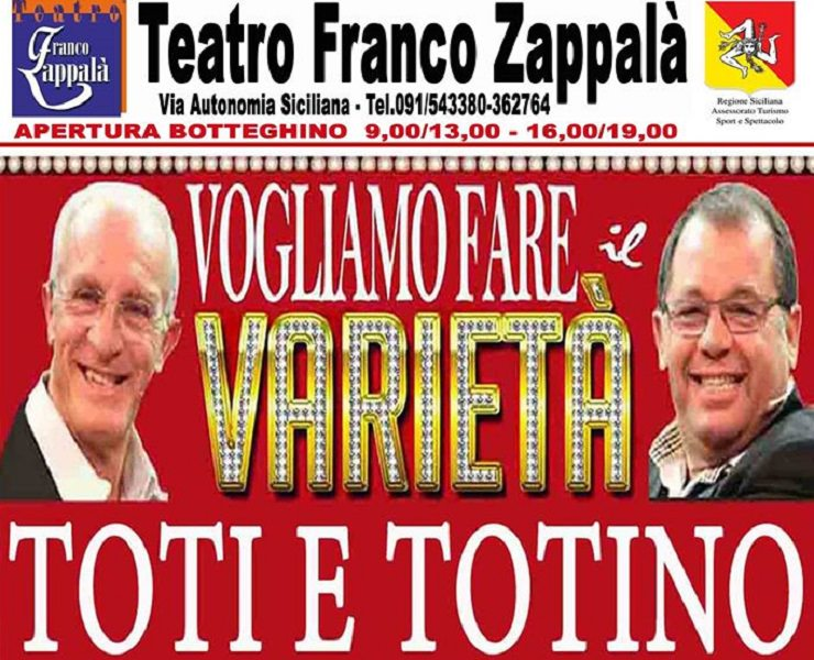 """""""Vogliamo fare il varietà"""": Toti e Totino in scena al Franco Zappalà"""