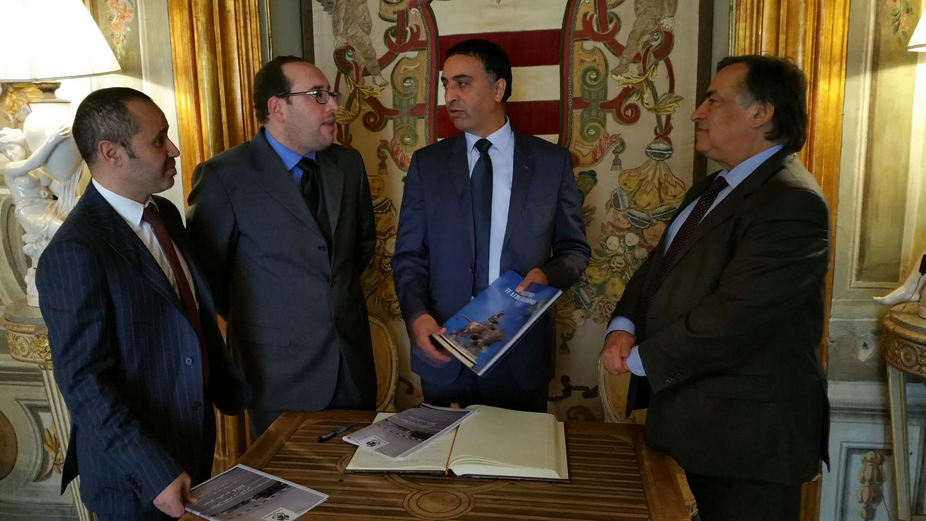 Palermo, Villa Niscemi accoglie ministro d'affari della Libia