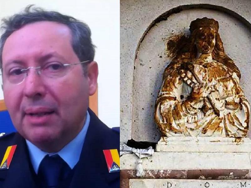 """Altarino di Sant'Agata profanato. Il comandante dei Vv.Uu.: """"Indignati!"""""""