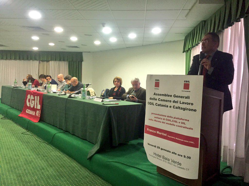 Catania, Cgil a confronto sulla riforma del modello contrattuale