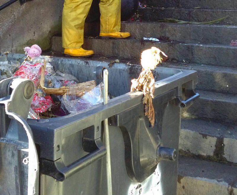 Mascali, atti vandalici al cimitero. Volontari all'opera per bonificare la zona