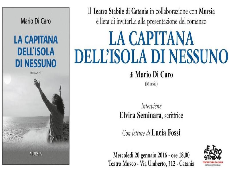 """""""La Capitana dell'isola di nessuno"""" al teatro Musco di Catania"""