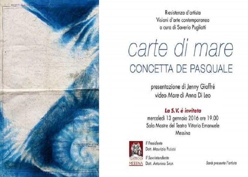 """Inaugurazione mercoledì 13 al teatro Vittorio Emanuele di Messina della mostra """"Carte di Mare"""""""