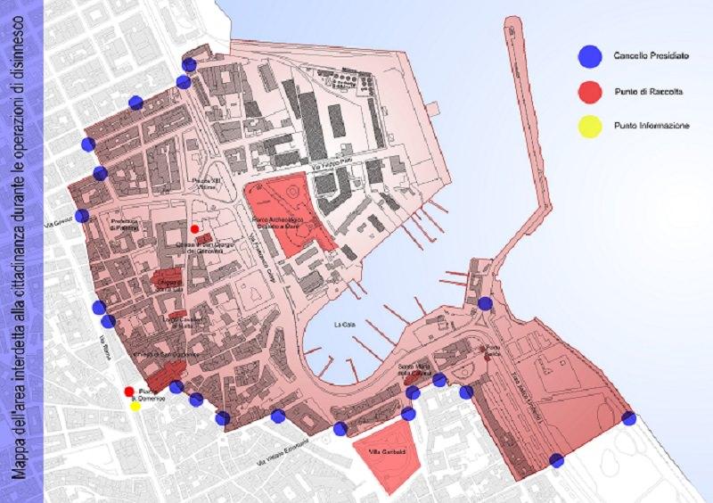 Palermo, Castello a Mare evacuata il 31 per un ordigno
