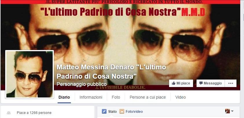 Matteo Messina Denaro: è bufera sulla pagina Facebook
