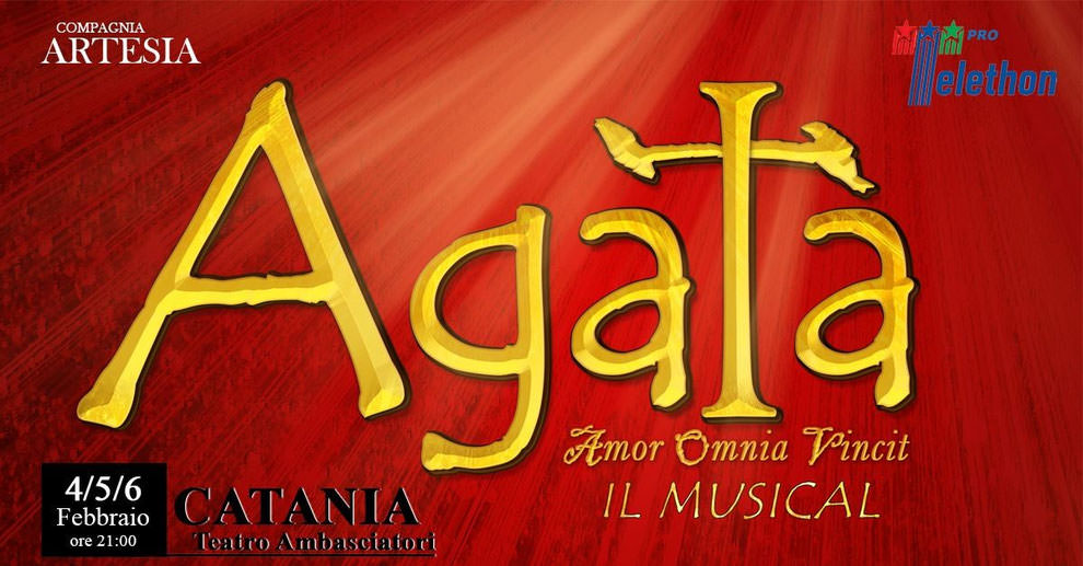"All'Ambasciatori il musical ""Agata, amor gloria mundi"""