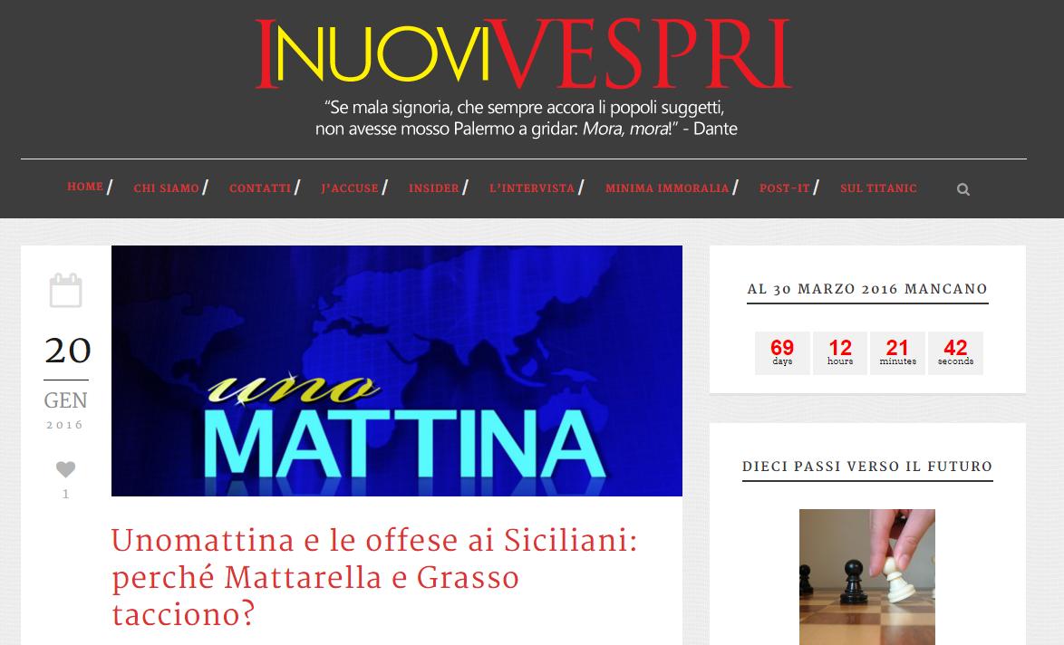 L'editore Busalacchi querela Panella per le sue frasi infelici sui siciliani