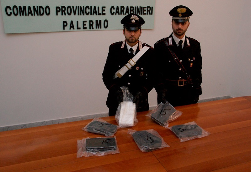 Palermo, napoletano con 6 kg di cocaina: arrestato