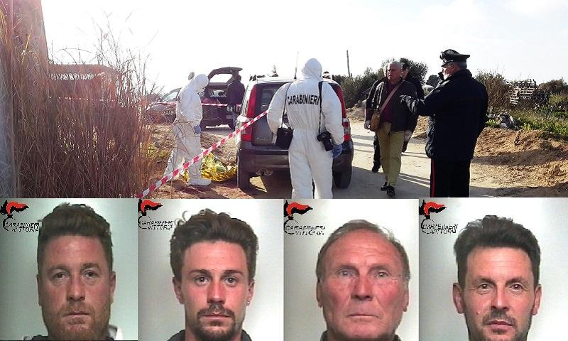 Omicidio Vittoria, quattro arresti. Ecco le foto