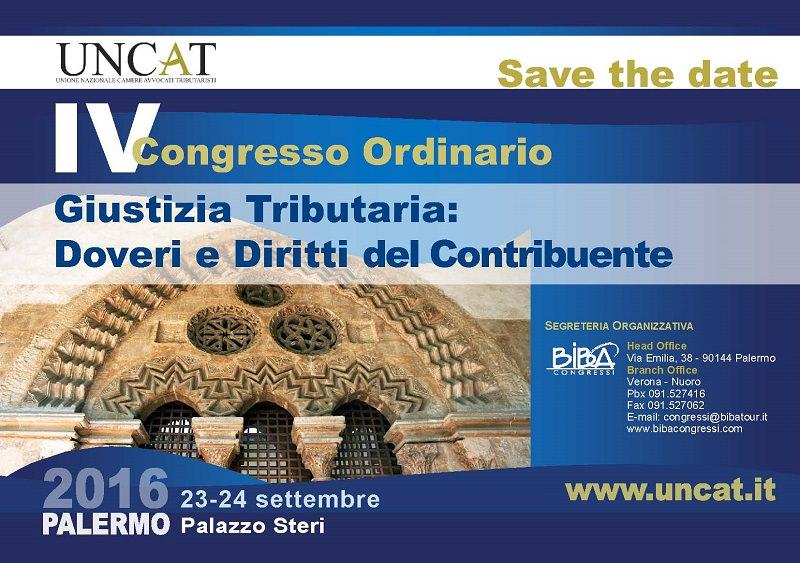 La Sicilia ospita il congresso Uncat 2016. Oltre 200 avvocati tributaristi a Palermo