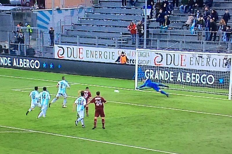 Trapani bastonato a Chiavari, 4 a 0 per l'Entella