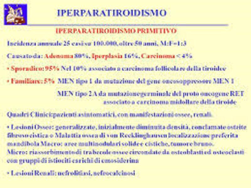 L'iperparatiroidismo primitivo asintomatico
