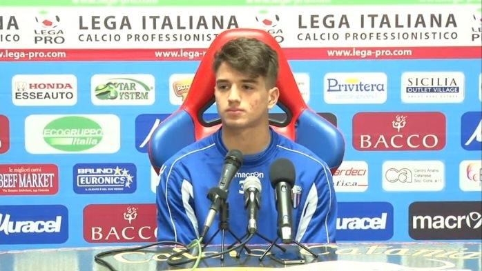 """Catania, Parisi: """"Ho acquisito esperienza, voglio migliorare ancora"""""""