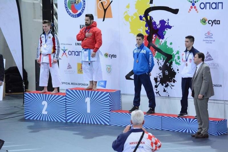 Il vittoriese Panagia porta l'Italia sul podio a Cipro