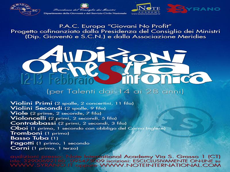 Al via le audizioni per il progetto Syrano a Catania