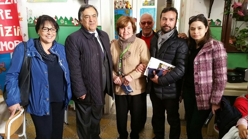 Palermo, sindaco Orlando in visita al Centro Filippone dopo atto vandalico