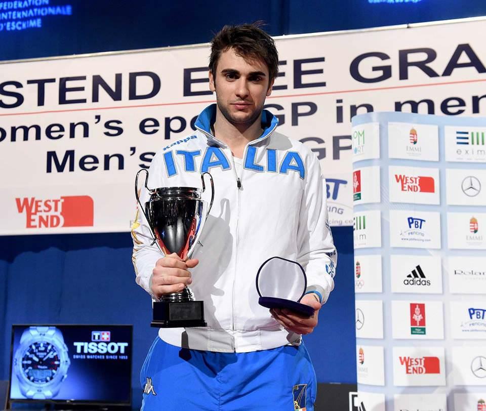 Enrico Garozzo ancora sul podio, a Budapest è medaglia d'argento