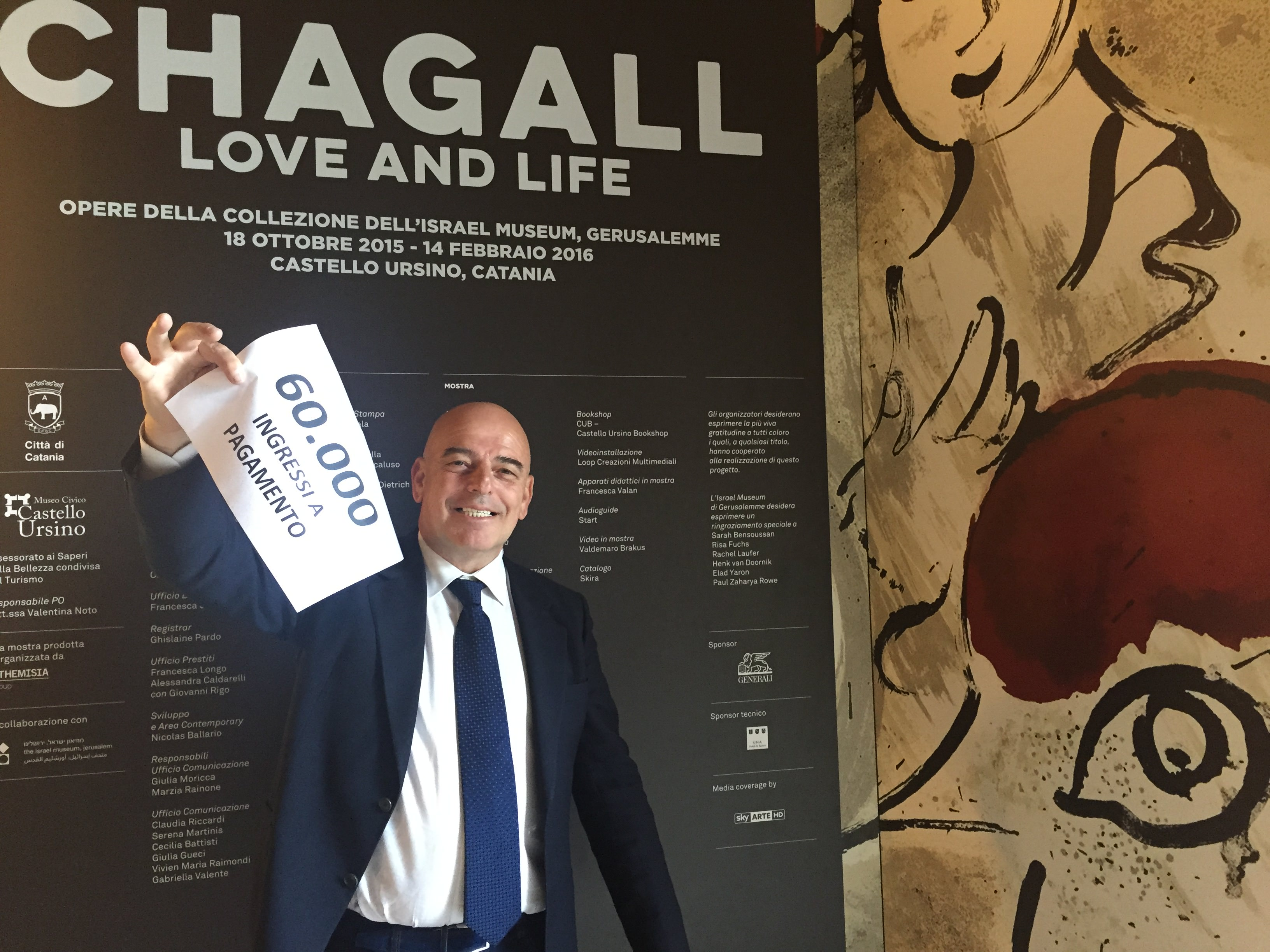 """Numeri da record per la mostra """"Chagall. Love and Life"""". Superati i 60.000 visitatori"""