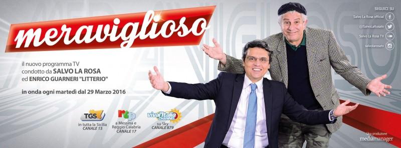 """Oggi prima puntata di """"Meraviglioso"""" il nuovo varietà di Salvo La Rosa"""