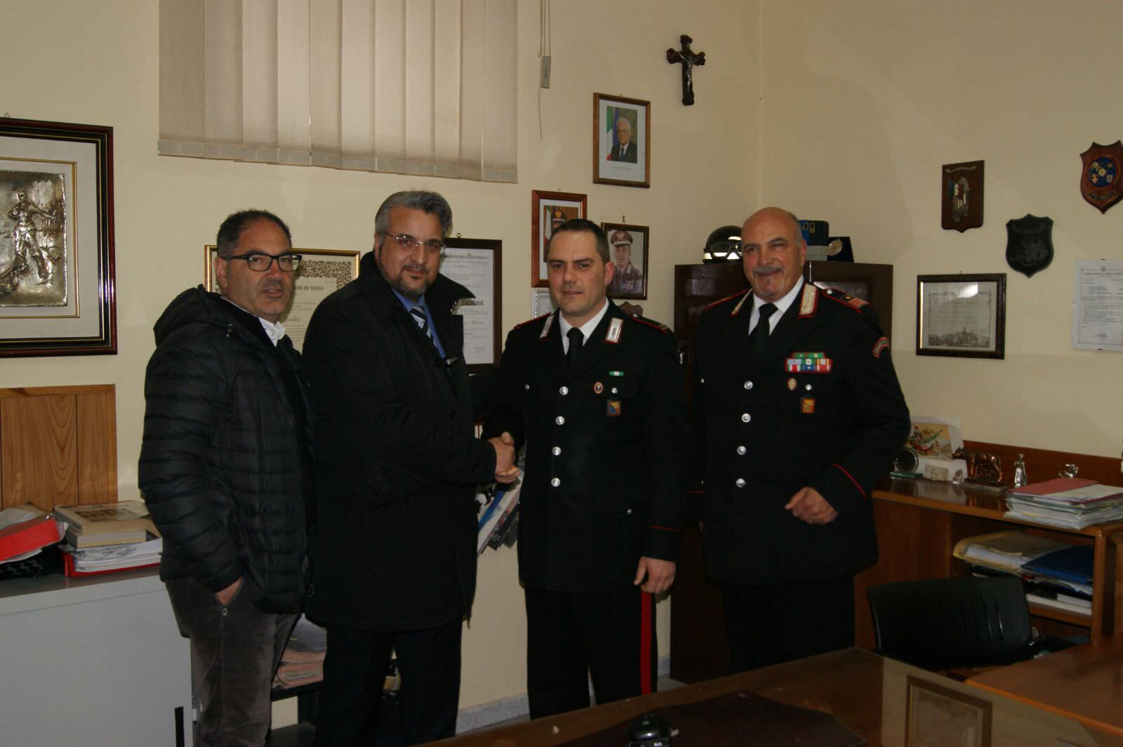 Pedara saluta il vice comandante Scamardella
