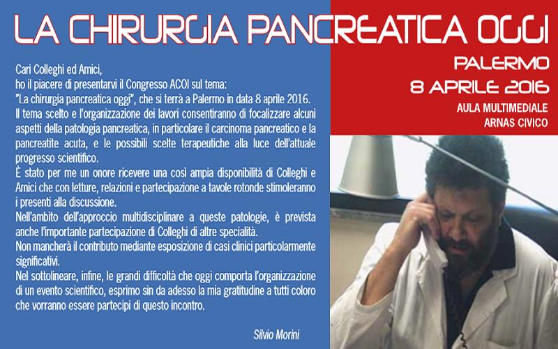 Domani a Palermo confronto sulle nuove frontiere della chirurgia pancreatica