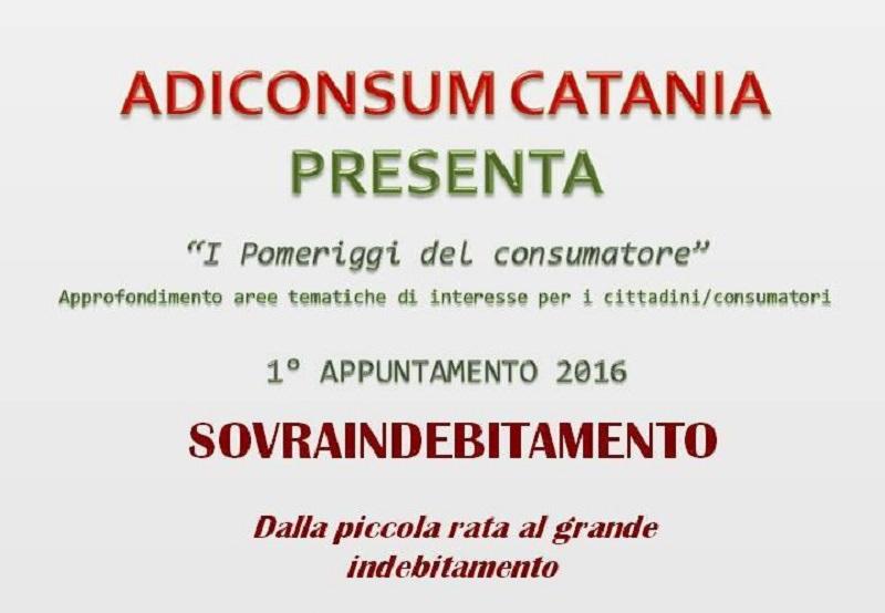 """Catania, Adiconsum lancia i """"Pomeriggi del consumatore"""""""
