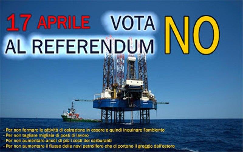 """Referendum sulle trivellazioni del 17 aprile. Ecco le ragioni del """"NO"""""""