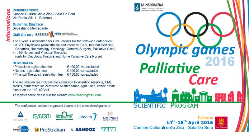 Cure palliative, a Palermo il congresso internazionale sulla terapia del dolore