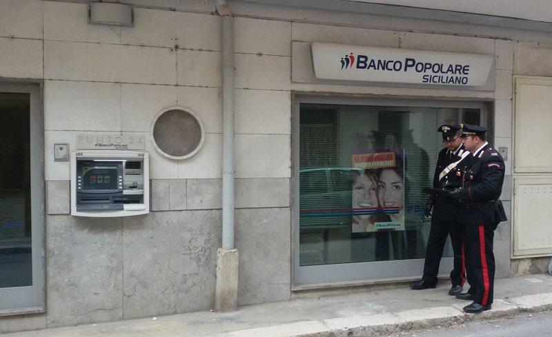 Rapina al Banco Popolare Siciliano di Marineo. Bottino da 32 mila euro. Tre arresti