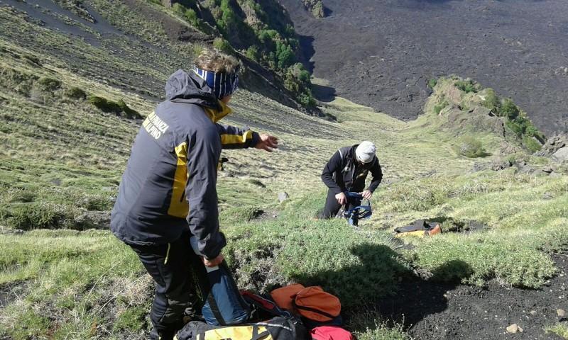 Soccorso e salvato turista tedesco sull'Etna