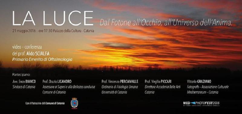 """""""La luce. Dal Fotone all'Occhio, all'Universo dell'Anima"""": video conferenza del prof. Aldo Scialfa"""