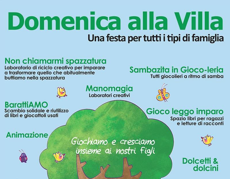 """""""Domenica alla Villa"""" fra intrattenimenti ludici e laboratori creativi"""