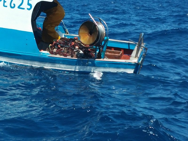 """Lampedusa, recuperata rete """"fantasma"""" nell'Area Marina Protetta"""