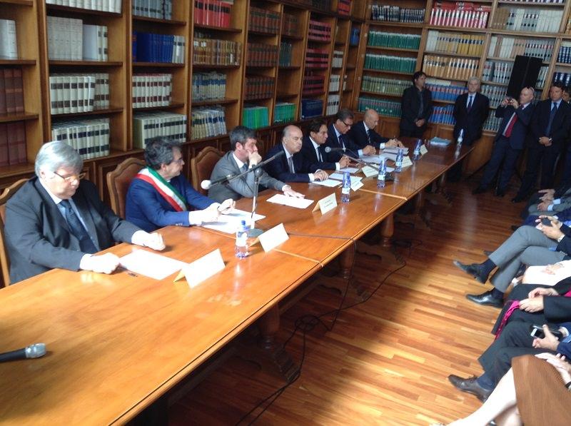 Catania, la firma del ministro Orlando al protocollo d'intesa: dichiarazioni