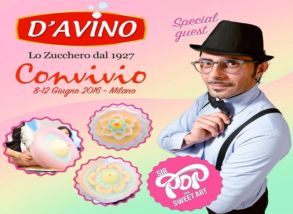 """Zucchero filato e beneficenza si incontrano con Sir Pop al """"Convivio"""" di Milano"""
