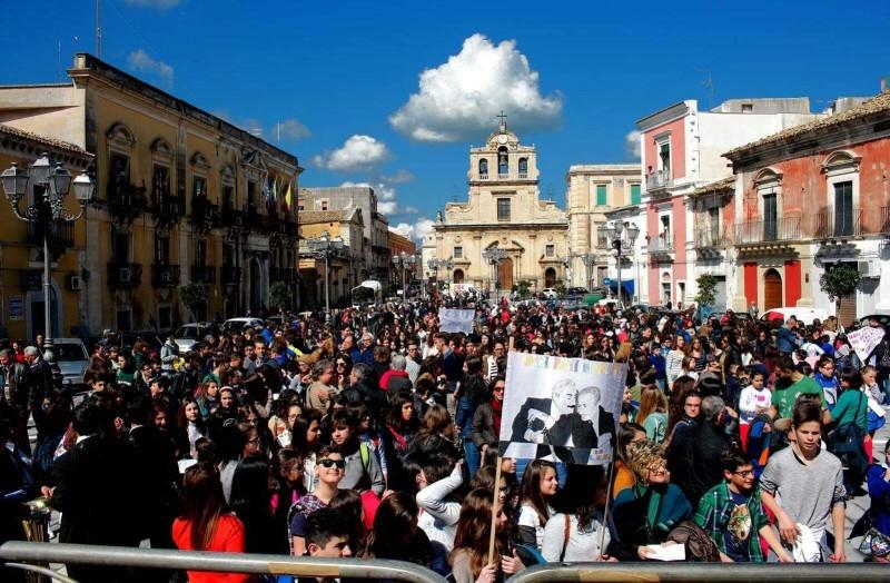 Lentini, grande manifestazione antimafia nel giorno della strage Borsellino