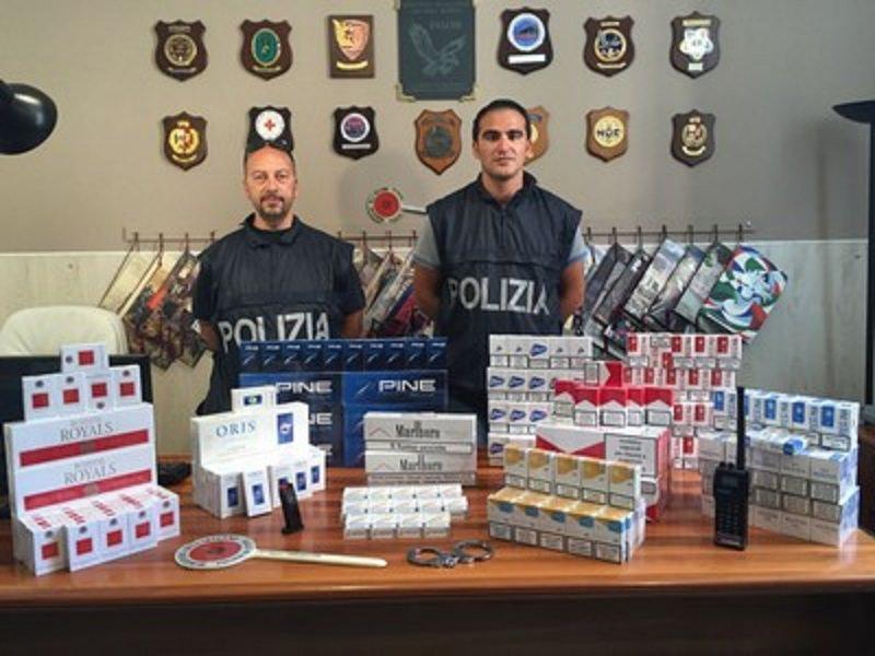 Arrestato a Palermo per detenzione di armi, contrabbando di sigarette e furto