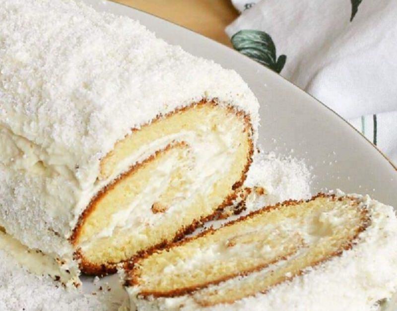 Ricetta del giorno: rotolo al limone con cocco e cioccolato bianco