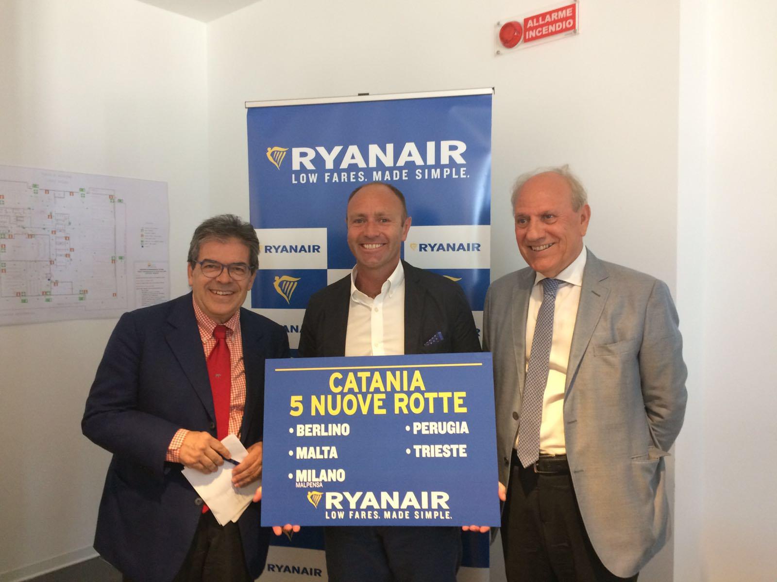 Ryanair si allarga su Catania: nuovi mezzi e nuovo operativo