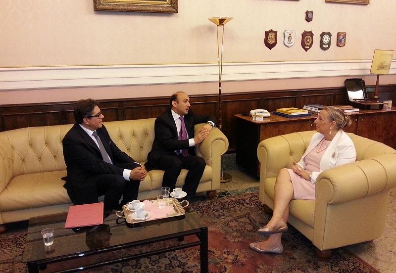 Catania, Maria Guia Federico incontra l'ambasciatore dell'Azerbaigian