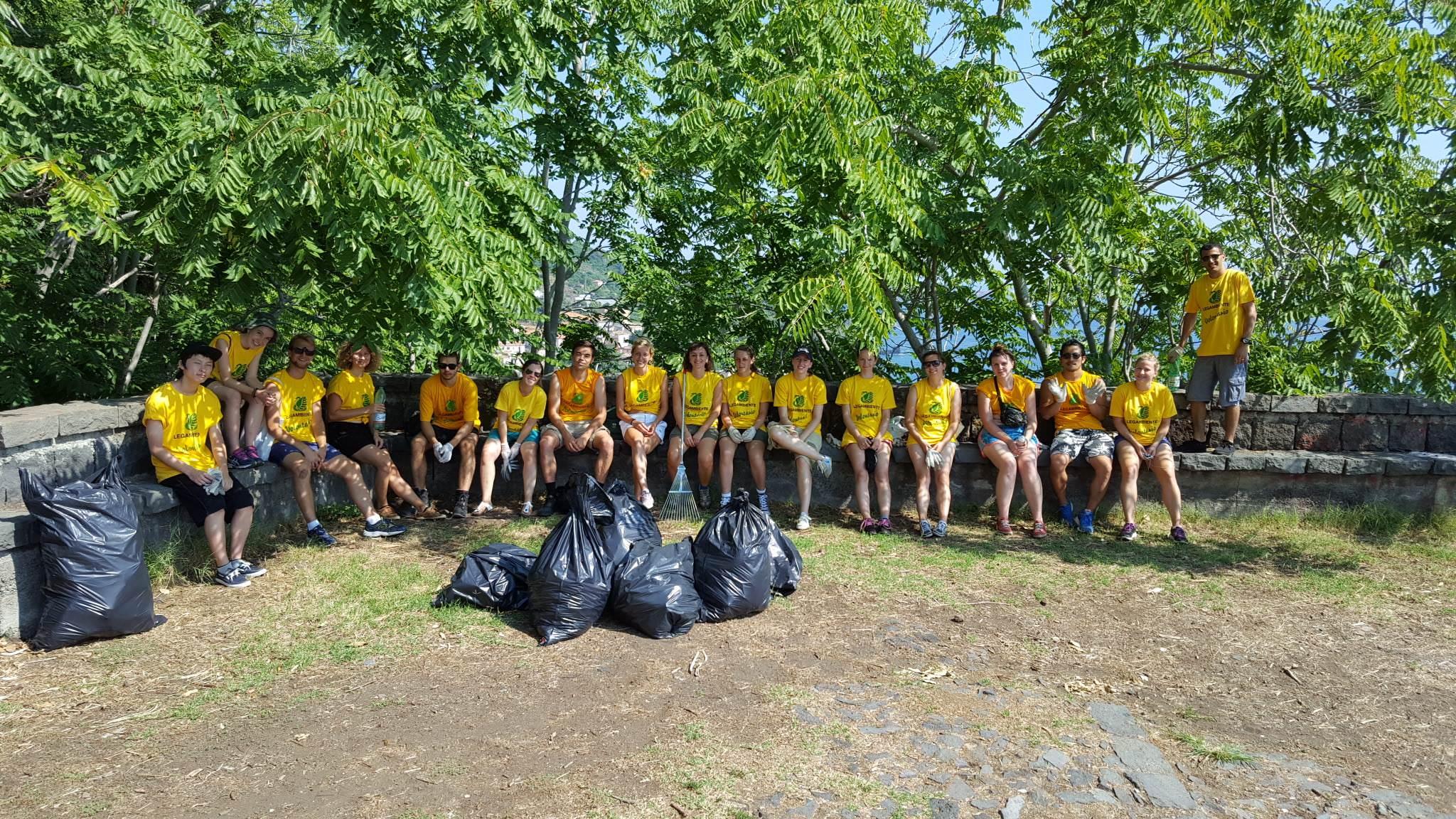 Alla Timpa di Acireale il primo Campo di Volontariato Internazionale