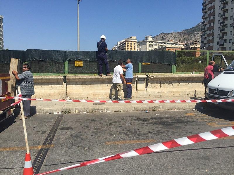 Palermo, l'attesa è finita: ponte di via Autonomia Siciliana messo in sicurezza