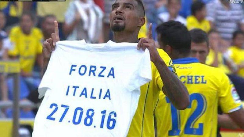 Gol con dedica ai terremotati del centro Italia: Boateng multato di 3 mila euro