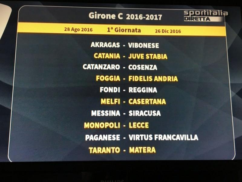 Catania, sorteggiato il calendario: ecco tutte le 19 giornate