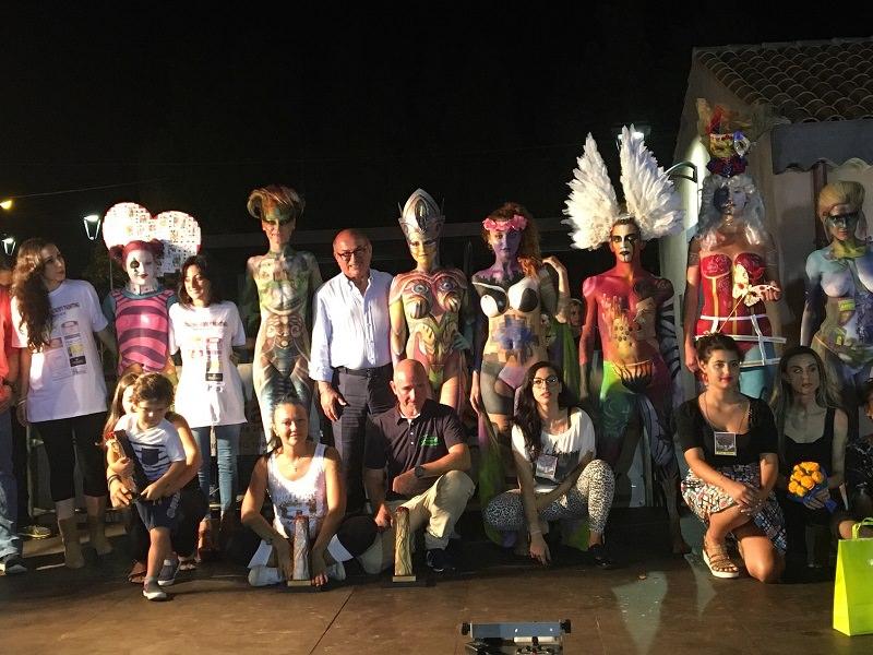Grande successo della kermesse di bodypainting a Torre Archirafi