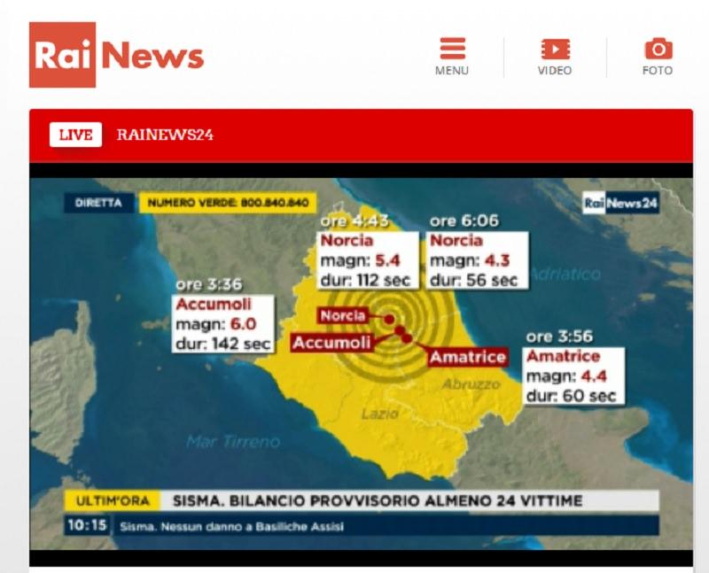 Terremoto, i consigli della protezione civile: parla il sindaco di Accumoli