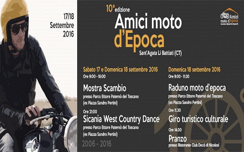 A Sant'Agata Li Battiati il 10° Raduno Amici moto d'Epoca